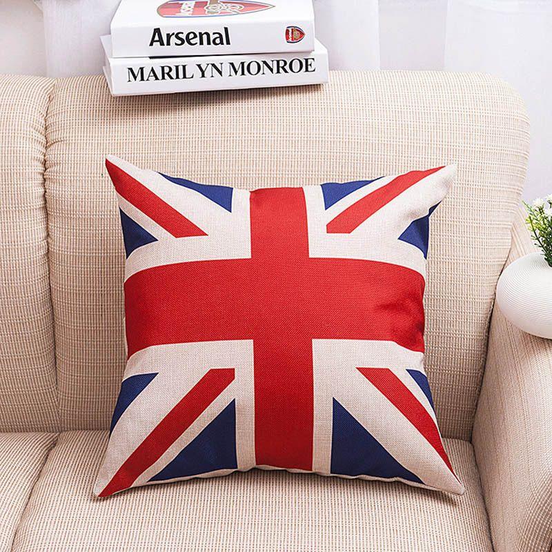 Kissenbezüge Dekokissen Covers USA UK Flagge Frankreich Kanada Blätter Kissenbezug Kissenbezüge Hause Dekorationen WX-P26