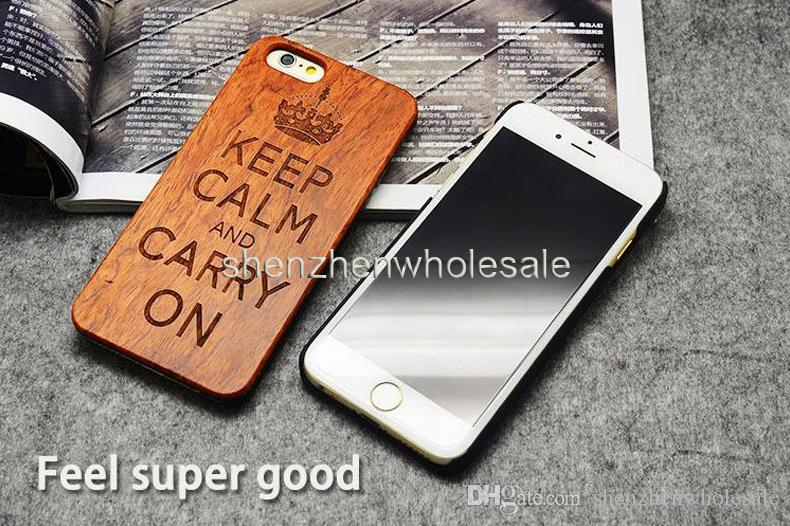 For Smart Phone Cell Phone Wooden Bamboo Case Custom Design Wood Protective 5s Back Cover Samsung Galaxy S7 S6 Edge S5 DHL