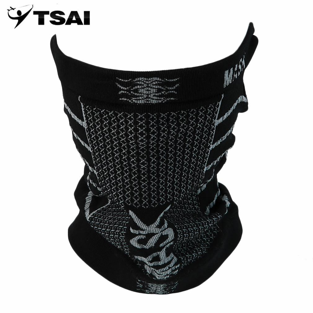 Wholesale- TSAI Cotton Face Mask Outdoor Sports Multi-functional Head Wrap Cycling Riding Neck Tube Scarf Mask Headwear Wholesale