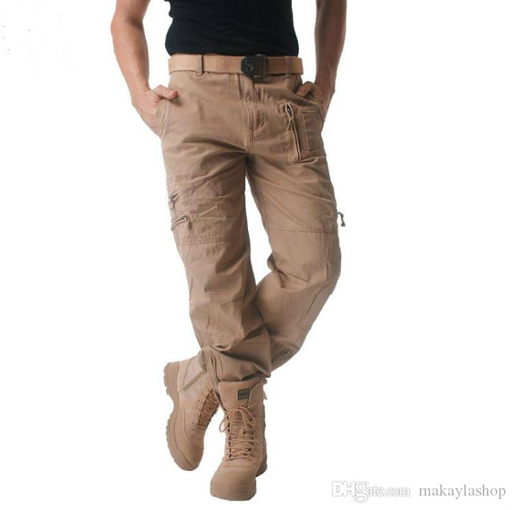 25a3ce22c1c 2019 Mens Cargo Pants Male Tactical Pant Military Casual Jogger Camo Multi  Pocket Trouser Camouflage Army Style Baggy Clothing From Makaylashop
