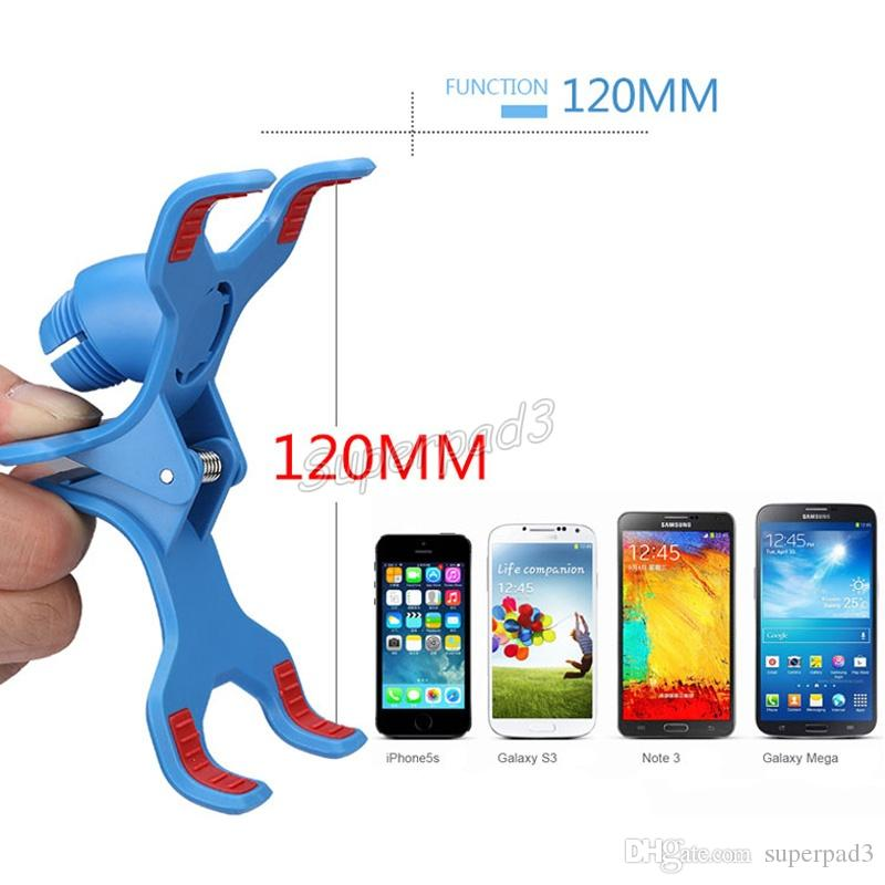 Cheap Cell Phone Holders 85cm Long Arm Lazy Bracket Universal Two Clips 360 Ratating Bed Desktop Holder Stands DHL