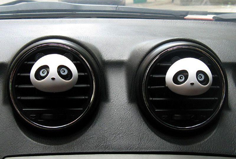 Parfum de sortie de voiture mini, belle sortie de voiture panda parfum, humidificateur désodorisant purificateur d'air, fournitures de voiture fraîche, / set, livraison rapide gratuite