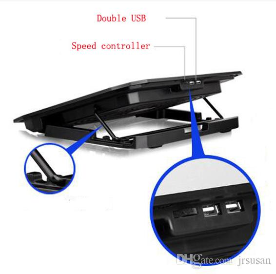 노트북 냉각 패드 노트북을위한 USB 인터페이스 스탠드 쿨러 노트북 스탠드 노트북 냉각 패드 라디에이터 두 개의 큰 팬 높은 품질