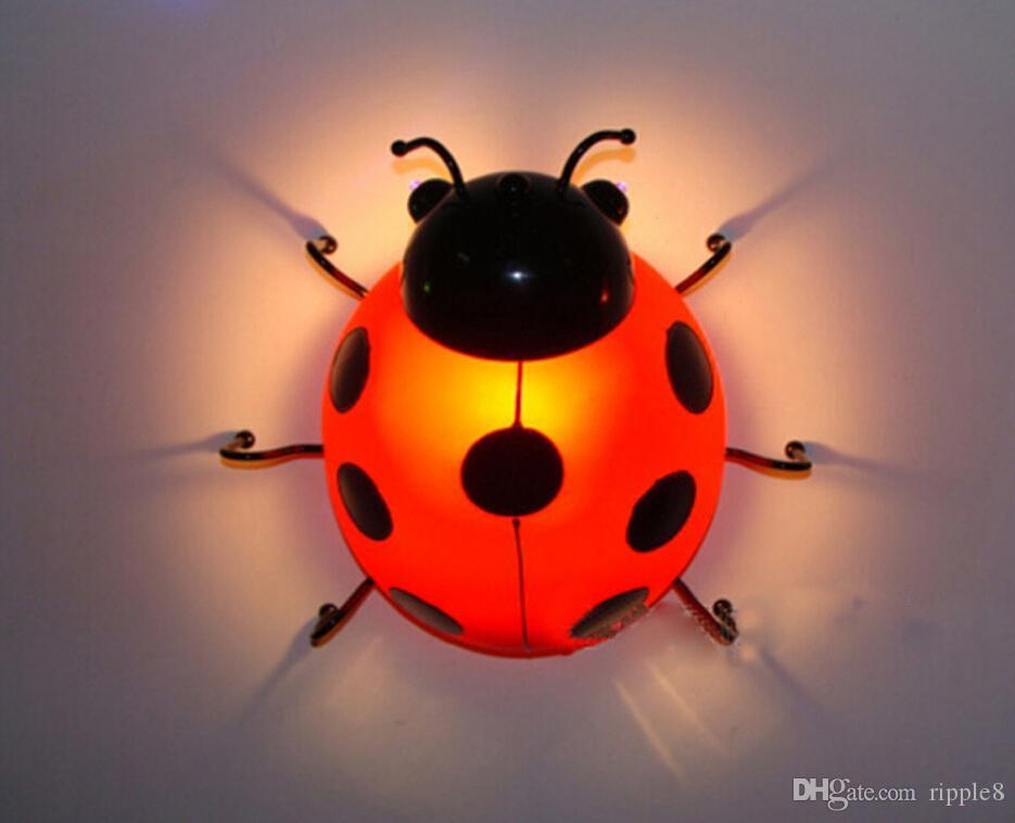 Best ChildrenS Bedroom Wall Led Bedside Lamps Beetle Children Wall