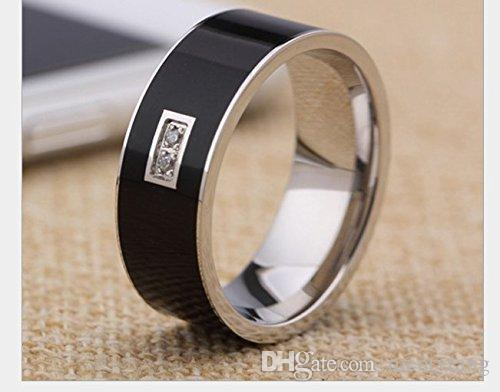 Black Color 2in1 Magic RingsDiamond Smart Ring Titanium Nfc
