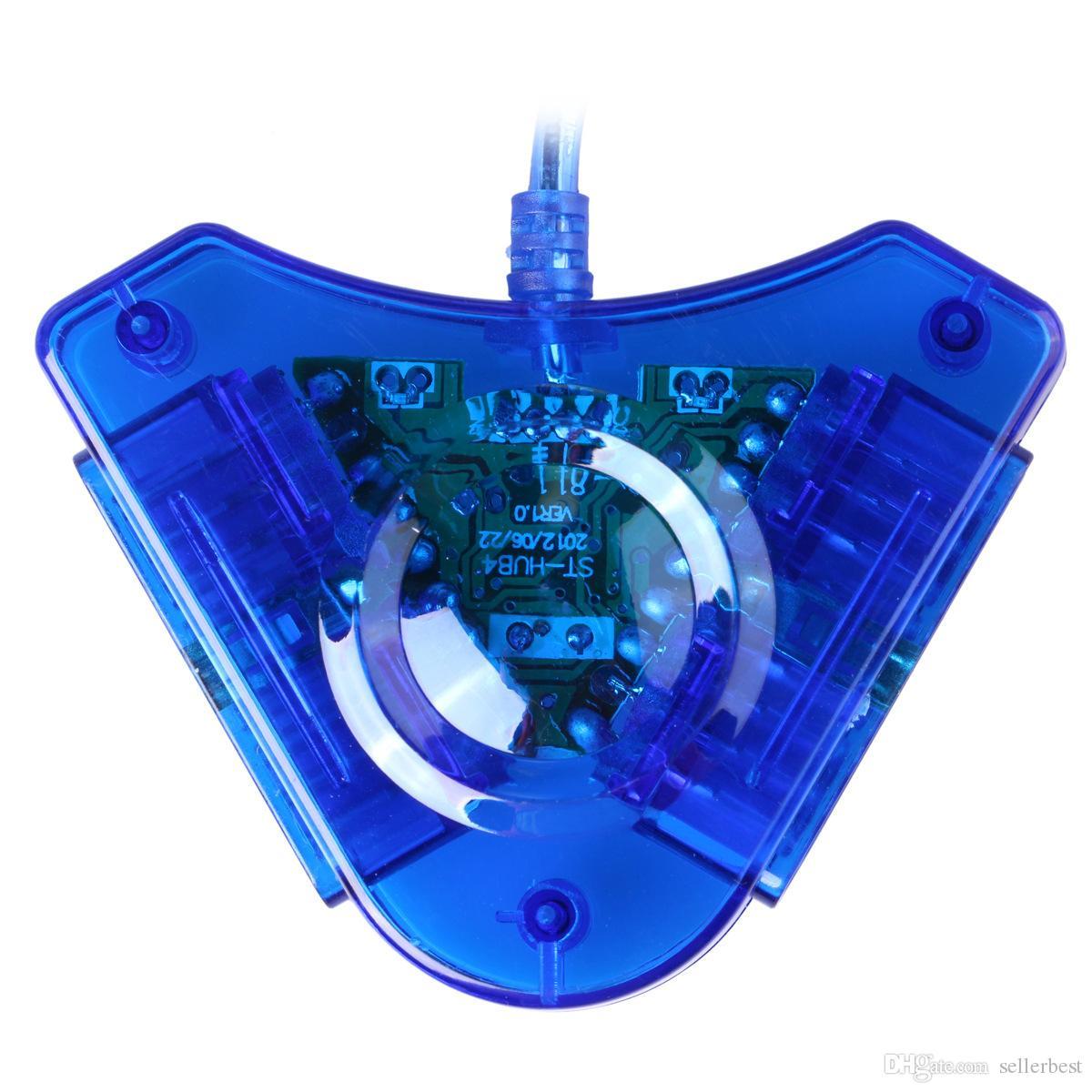 ST302 S-302 Joypad Jogo USB Dual Player Conversor Cabo Adaptador Para PS2 Atraente Dual Playstation USB Controlador de Jogo PS2 PS II 1X2