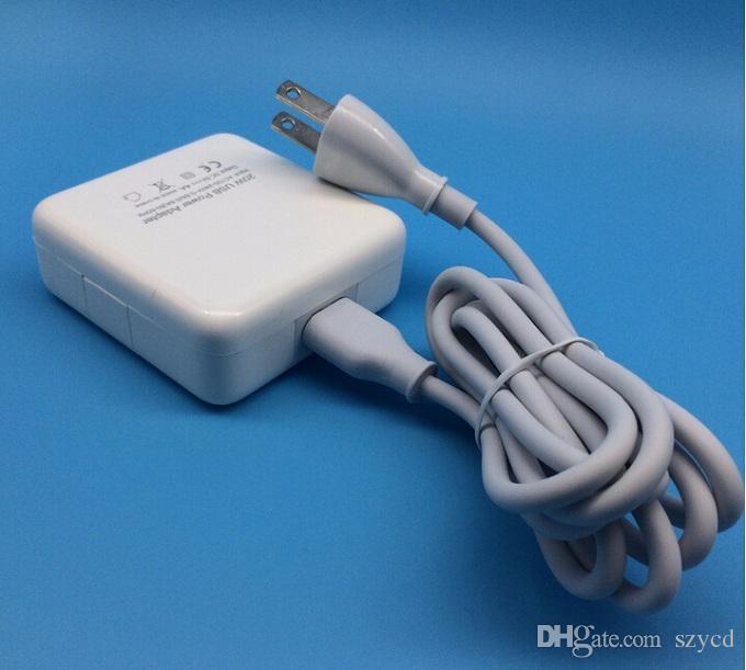 Nuovo caricatore USB a parete USB 5V 4A 20W 4 porte spina US EU 5V 4A iPhone6 5s 4s Smart Phone iPad, con pacchetto di vendita al dettaglio