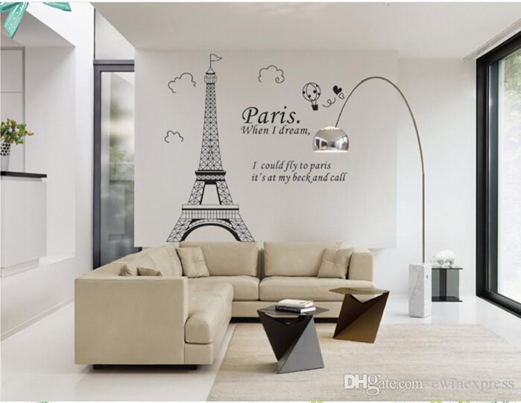 Parigi Torre Eiffel smontabile in vinile Art Decal Murale Wall Sticker la casa Soggiorno camera da letto Bagno Cucina