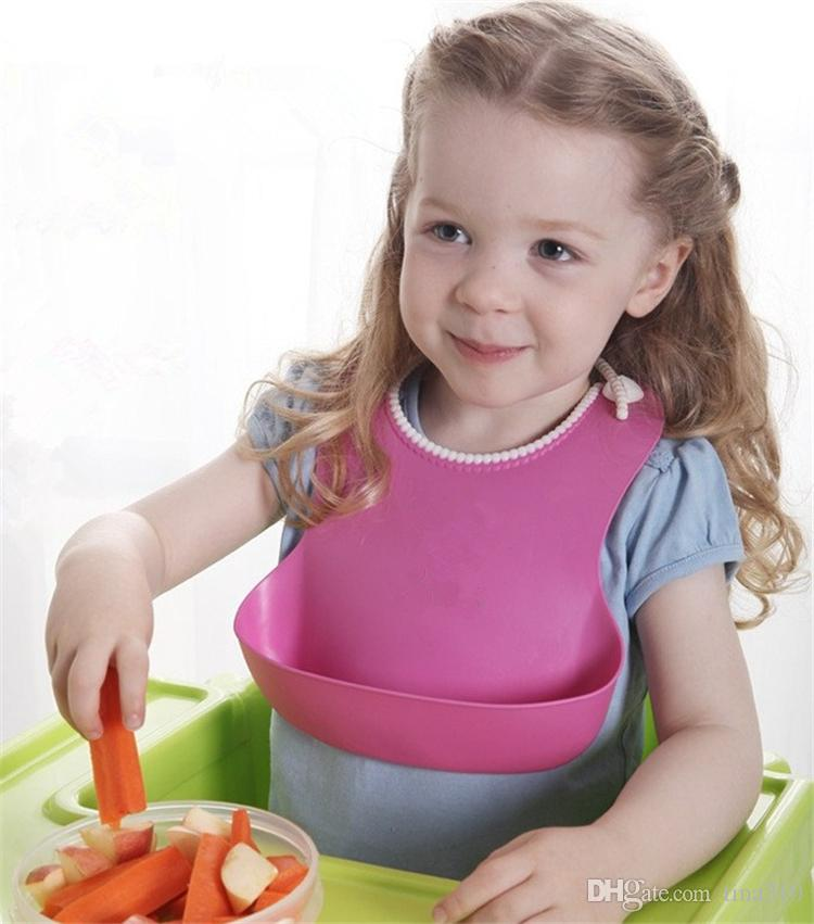 KOLAY YIKAMA CRUMB GIDA CATCHER ROLL 100% SILIKON BEBEK BIBS bebek besleme bebek önlük KOMIK geğirmek bezler B0609