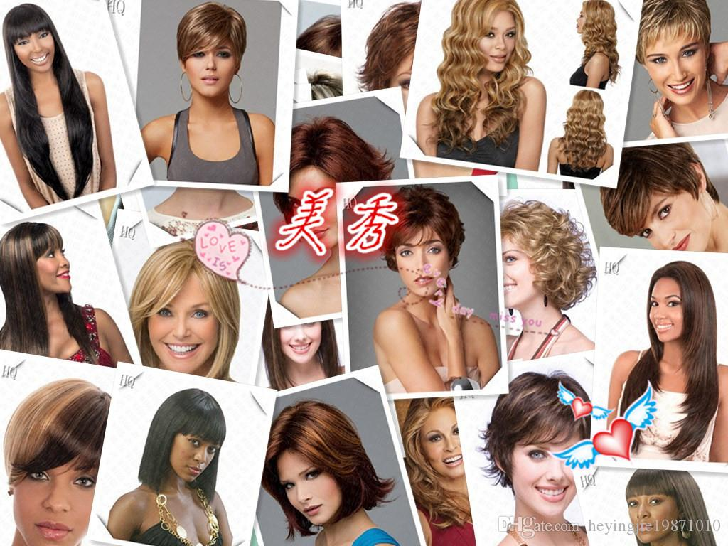 Xiu Zhi Mei Hot sell Cheap New Fashion Women Brown Color Chic Short Wavy Hairstyle Synthetic Hair Wigs For Black Women