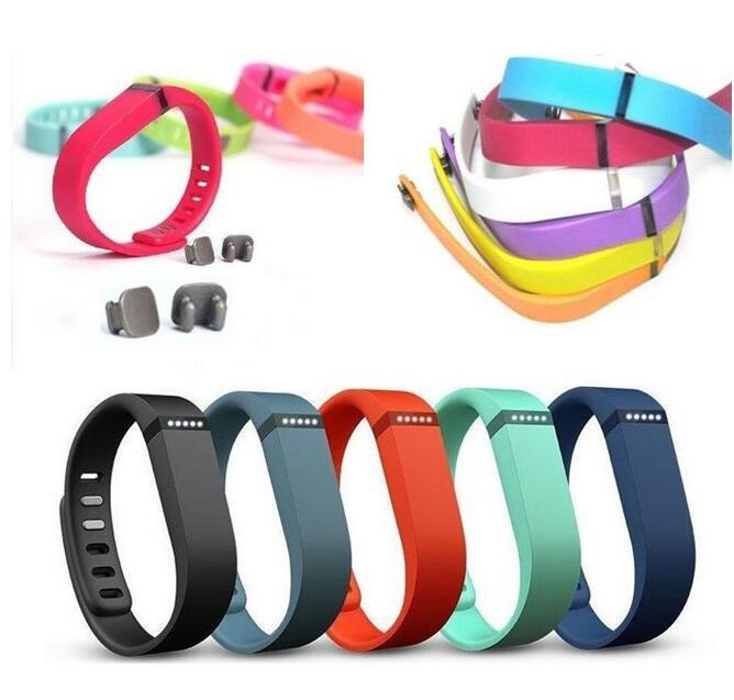 NO TRACKER 5 sSmall TANGERINE SLATE TEAL BLACK LIME for FitBit FLEX Wristbands
