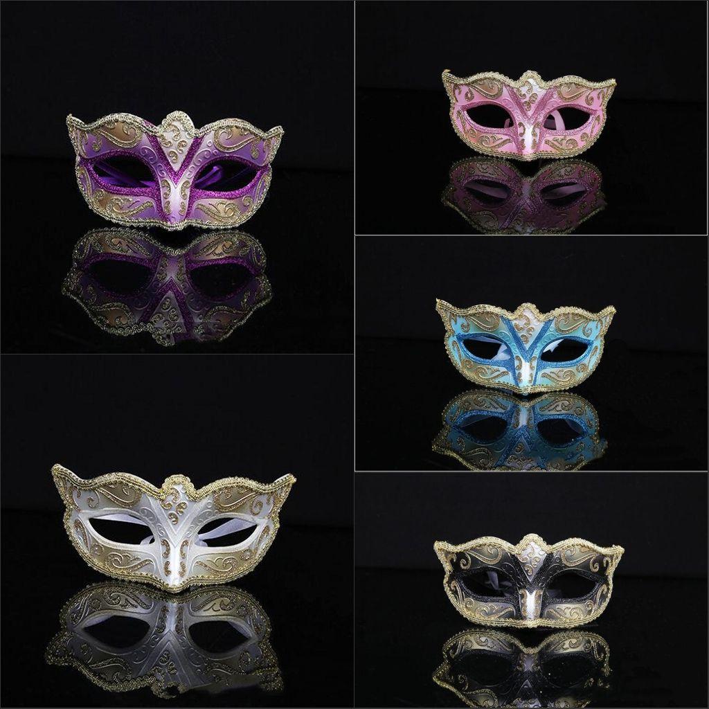 Fashion Unisex Handmade Painted Masquerade Masks Halloween Party ...