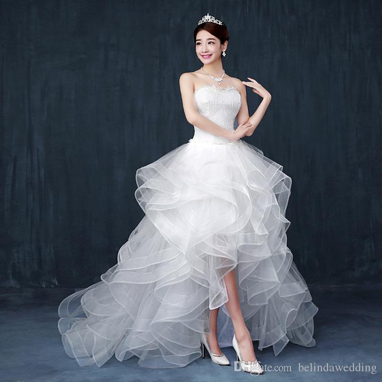 Großhandel Bescheidene High Low Country Style Brautkleider 2016 ...