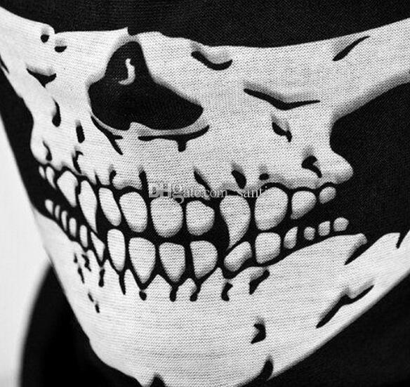 حار مهرجان هالوين مخيف قناع أقنعة الجمجمة أقنعة الهيكل العظمي في دراجة دراجة متعددة أقنعة وشاح نصف الوجه قناع كاب الرقبة شبح