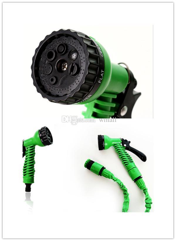 Gartenschlauch 25FT 50FT 75FT 100FT flexibler X-Garten-Wasser-Schlauch mit Spritzpistole-Autowäsche-Rohr-einziehbarem Bewässerungs-teleskopischem Gummischlauch