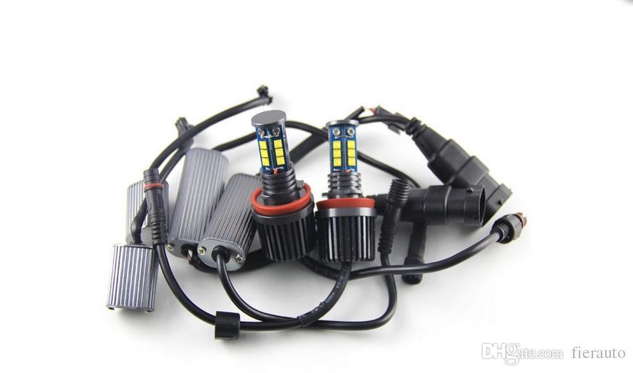 Error fre Marker Fendinebbia H8 120W CREE LED Angel Eye BMW X5 E70 X6 E71 E90 E91 E92 M3 E60