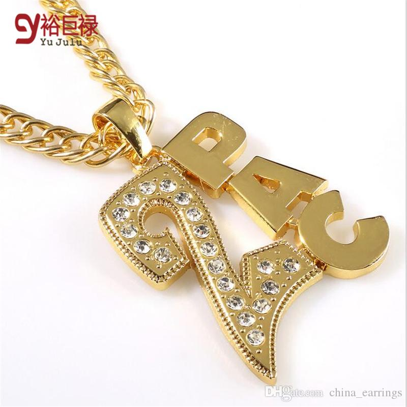 Wholesale 2016 new fashion pendant 2pac necklace swag hip hop wholesale 2016 new fashion pendant 2pac necklace swag hip hop pendants and necklaces men gold chain jewelry eminem two pac memery gift rap bboy red pendant aloadofball Image collections