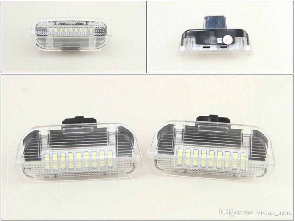 2X FOR VW TOUAREG SHARAN 2011-18 WHITE LED FRONT DOOR LIGHT RED//WHITE LAMPS