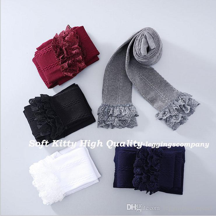 Wholesale High Quality Cute Cotton Children Kids Girl Leggings with Lace Spring Autumn Autumn