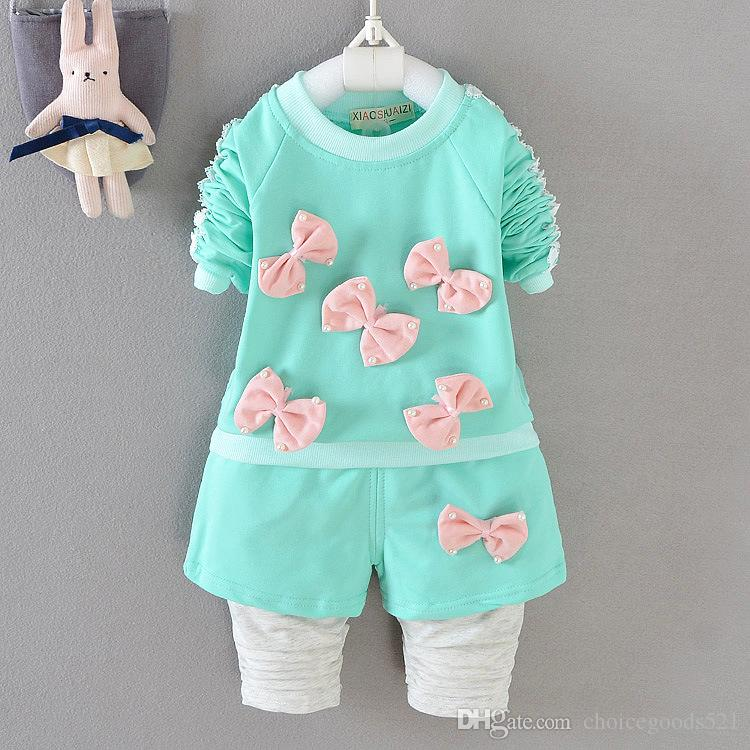 7c6c04554 2019 New Kids Clothes 2017 Autumn Pearl Bow Clothing Cotton Kids Top ...