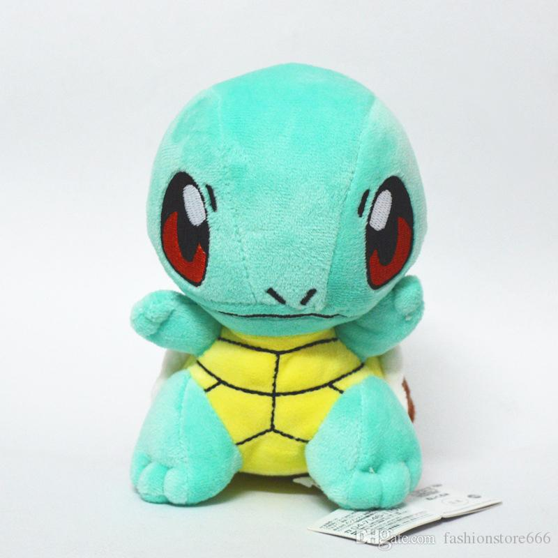 15cm 6inch Poke Plush Dolls Charmander Squirtle Bulbasaur Cartoon Figures Stuffed Animals Toys For Kids children XMAS Gifts