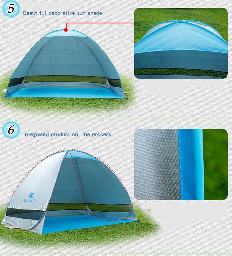 Gratuit Bulid Facile Porter Des Tentes En Plein Air Camping Abris Protection UV Pour 2-3 Personnes Tente Plage Voyage Pelouse Famille Partie Livraison Rapide