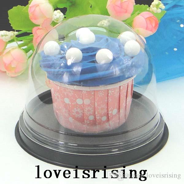 =Clear Plastic Cupcake Box Favor Boxes Container Cupcake Cake Dome Gift Boxes Cake Box Wedding Favors Boxes Supplies