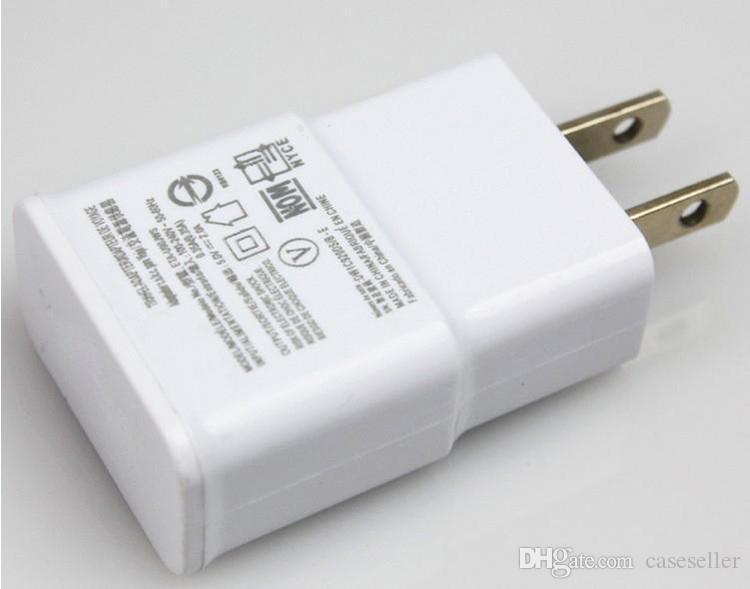 5V 2A / 1A para Samsung S6 UE / EE. UU. Enchufe de viaje adaptador de pared del cargador para el Galaxy S5 S4 S3 Note2 N7100