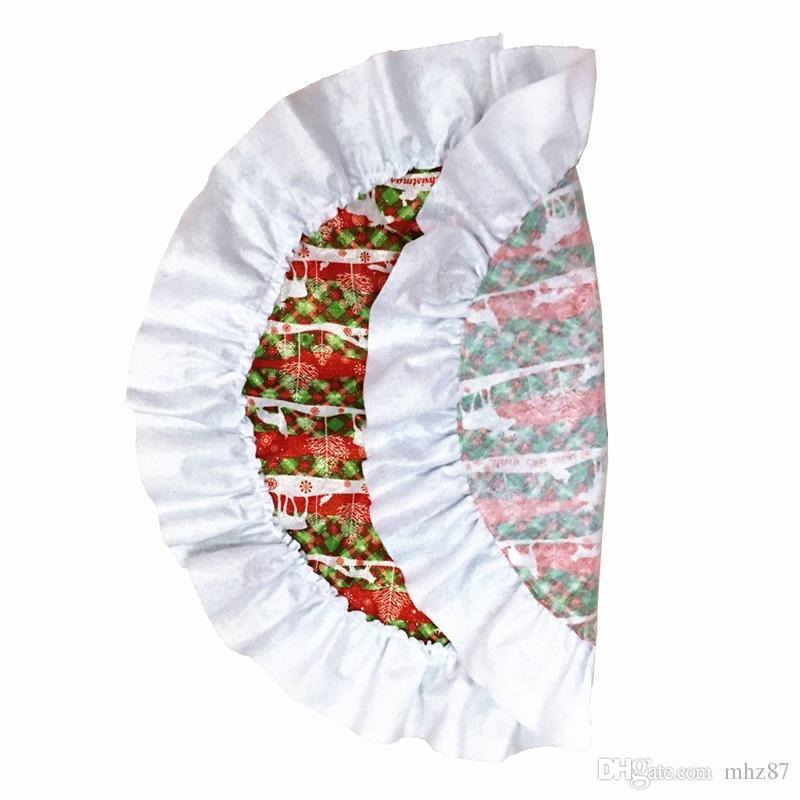 Snowflake Christmas Tree Skirt Christmas Decorations for Home Xmas Tree Skirt Event Party Supplies Santa Claus Gift Decor