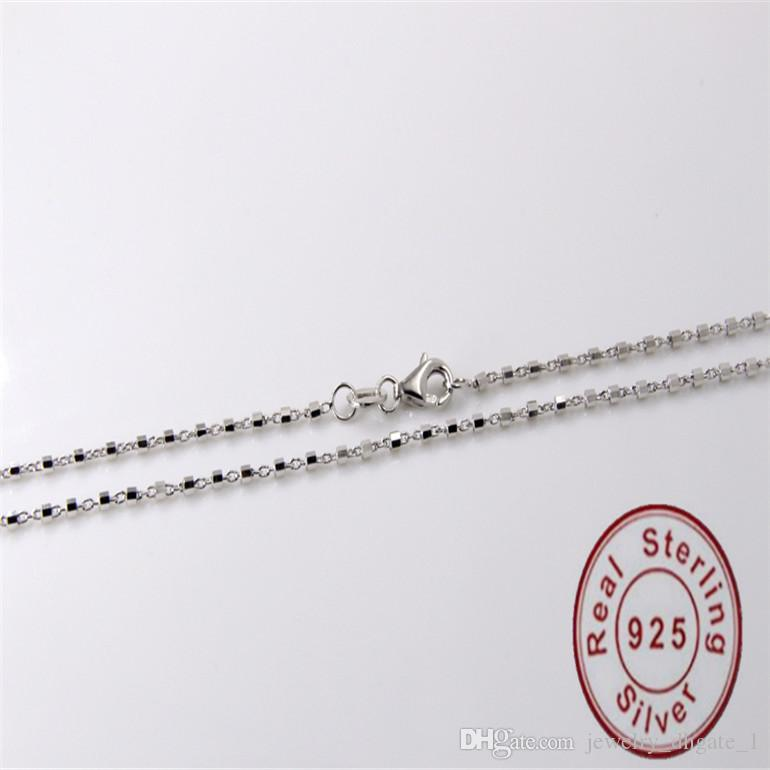 Authentic 925 Sterling Silver jewelry long chain jewelry fit DIY nacklace Christmas gift 925 sterling silver jewelry