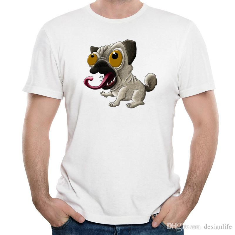 3D Print Pal T-shirts Funny Puppy On Men's Summer Clothes Short-Sleeved Tee For Campus Guys Unique Design New School Pug