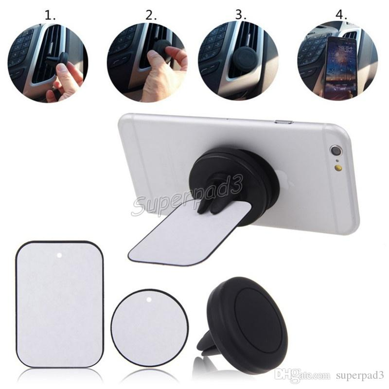 Wholesale Silicone Stand Holders Cell Phone Mounts Universal Portable Air Outlet Mini Size Easy to start-up Magnetic Holder For Cell Phone