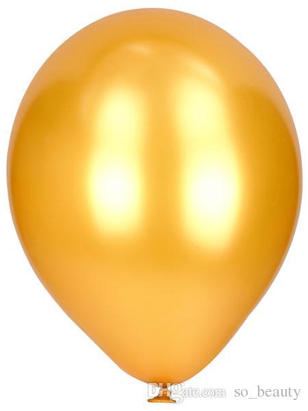 라텍스 골드 라운드 풍선 파티 웨딩 장식 실버 펄 진주 풍선 생일 축하 기념일 장식 10 인치