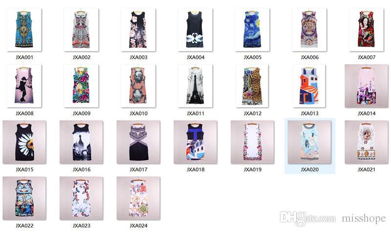 Vogue women mini vestido Tower print 2016 new arrival fashion girls summer clothes Western novelty design casual dresses wholesale