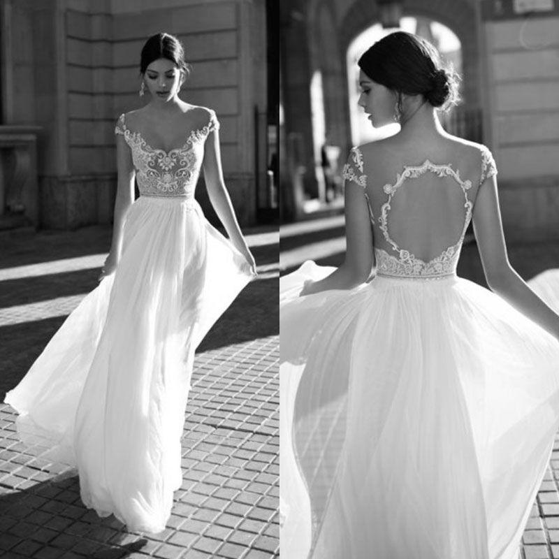Discount Gali Karten 2018 Open Back Wedding Dresses Backless Sheer ...