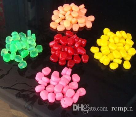 Karpfenangeln Mai Promotion Köder 5 Farben Gummiköder Simulation Corn Carp weiche Fischköder Tackles mit starkem Geruch Corn