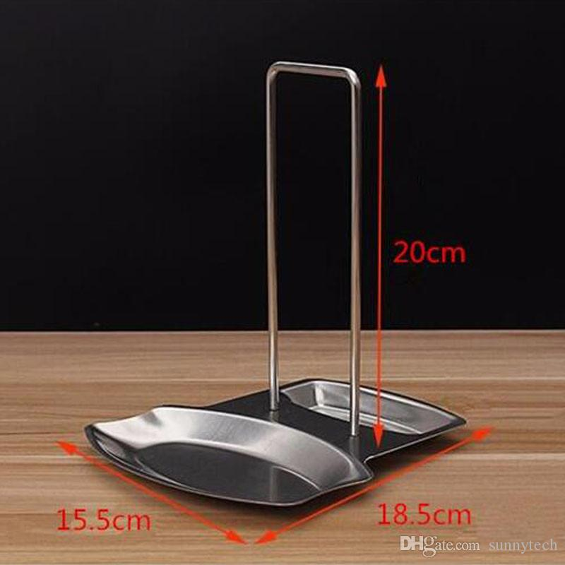 Stainless Steel Pot Lid Shelf Kitchen Organizer Pan Cover Lid Rack Stand Sponge Spoon Holder Kitchen Dish Rack LZ0322