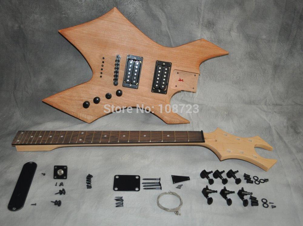 diy electric guitar kit mahogany body maple neck rosewood fingerboard high quality rosewood vs. Black Bedroom Furniture Sets. Home Design Ideas