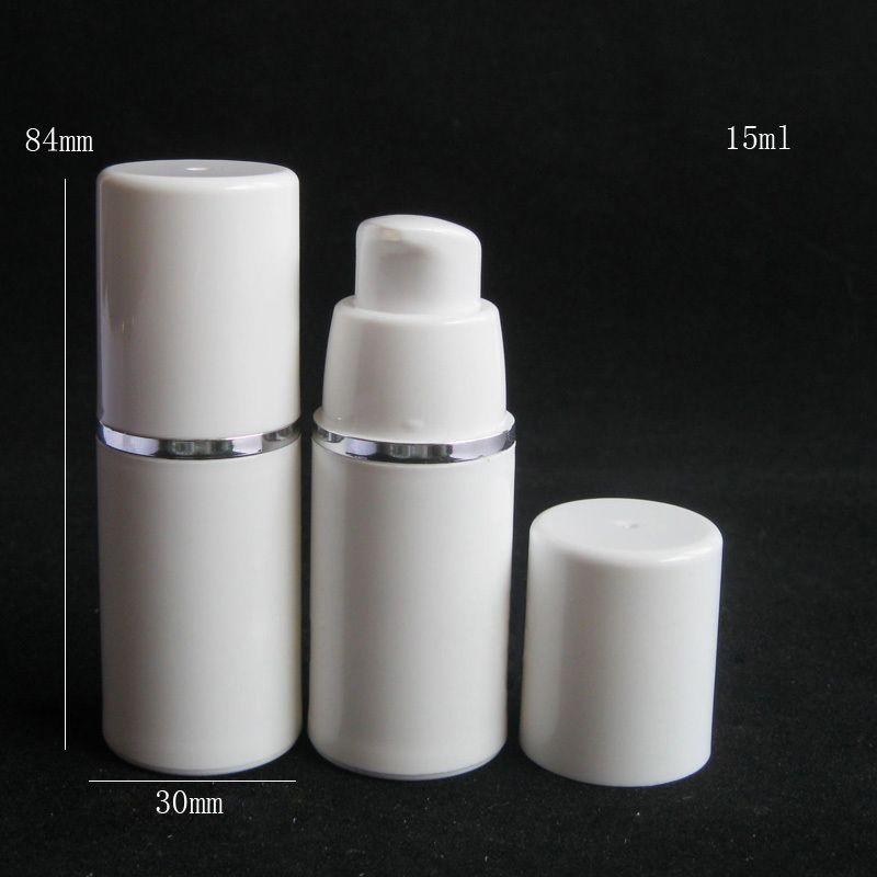 15ml 30ml 50ml bottiglia di alta qualità bianca senz'aria della pompa-Travel Dispenser crema di cura della pelle cosmetica riutilizzabile, PP Lozione contenitore di imballaggio