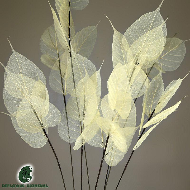 Bodhi Leaf Branches Decorative Simulation Dry Flower Bouquets ...