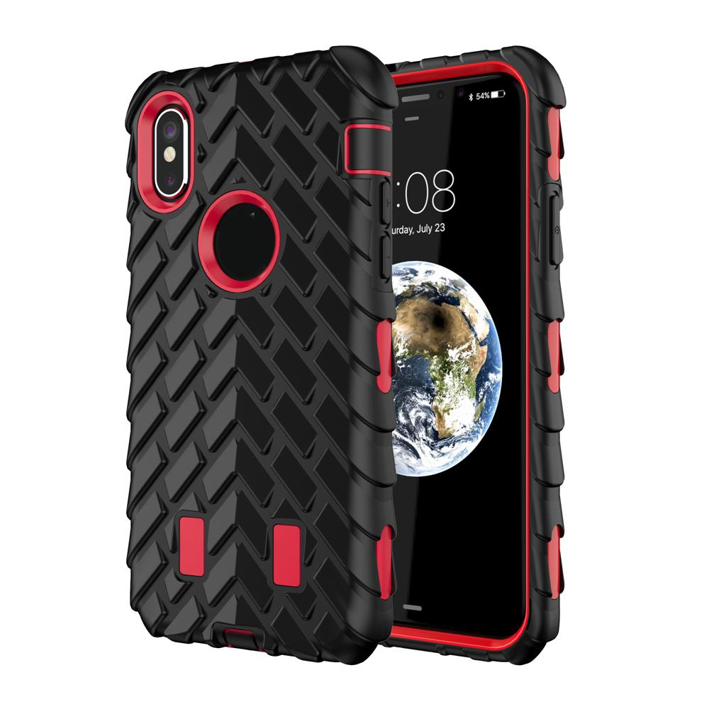 Robot Tyre Shockproof Hard Case For iphone X/8/7/Plus/6 6S/SE 5 5S Tire Rough Rugged Hybrid Covers Dual 2in1 Plastic+Silicone Armor Defender