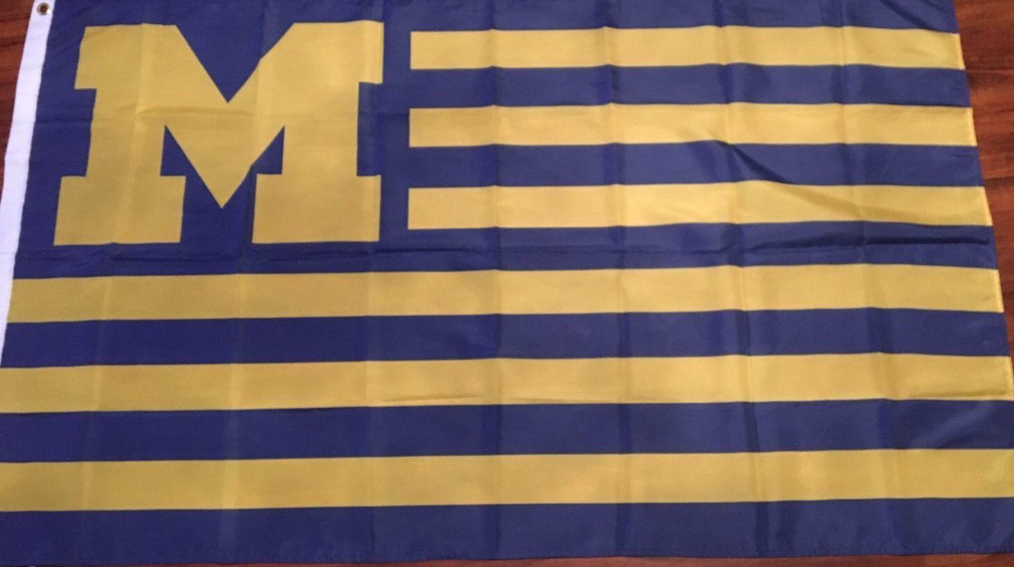 American Michigan Team Wolverines Stars & Stripes National Large ...