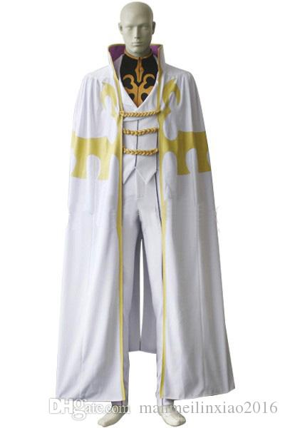 Popular Anime Cos Code Geass Bismarck Waldstein Cosplay Costume Halloween  Clothing With Cape White Customize Full Set Black And White Costumes Themed  Party ...