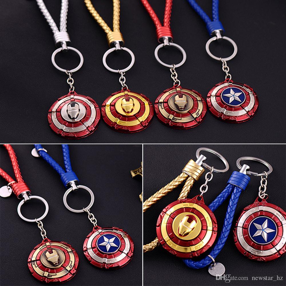 Novo Capitão América Escudo Chaveiro de Metal Chaveiros Superhero Movie The Avengers Chaveiro Homem De Ferro Chaveiros Chaveiros Homens Presente