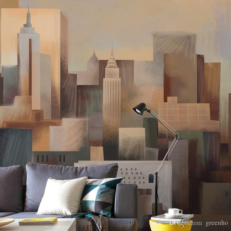 New York City Wall Mural new york city wallpaper for walls custom 3d building wall mural