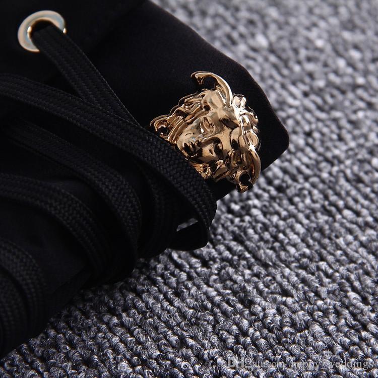 Высокое качество новая мода 2017 весна осень брюки женская Высокая Талия молния шнуровка тощий карандаш брюки