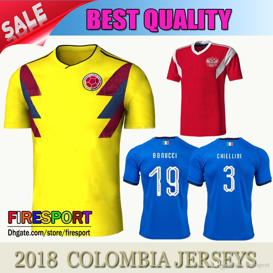 2018 New 2018 Colombia Soccer Jerseys World Cup S nchez James Cuadrado 17  18 Luis Muriel Falcao Camiseta De F tbol Home Yellow Football Shirts From  ... d5e028630