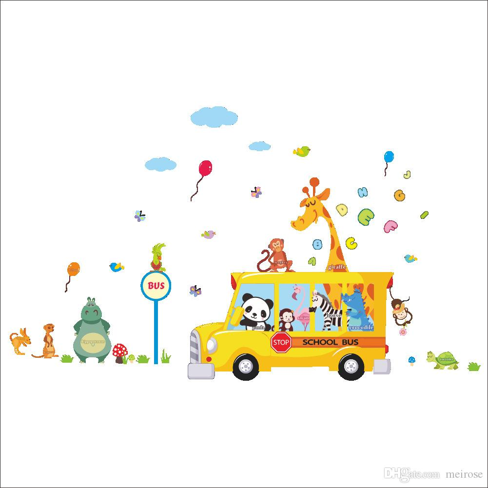 carton wall stickers for nursery school kids rooms decorative wall see larger image
