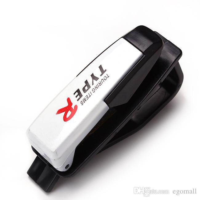 Nuevo Car-styling Auto Fastener Clip Accesorios automáticos PVC Car Vehicle Sun Visor Sunglasses Anteojos Glasses Ticket Holder Clip