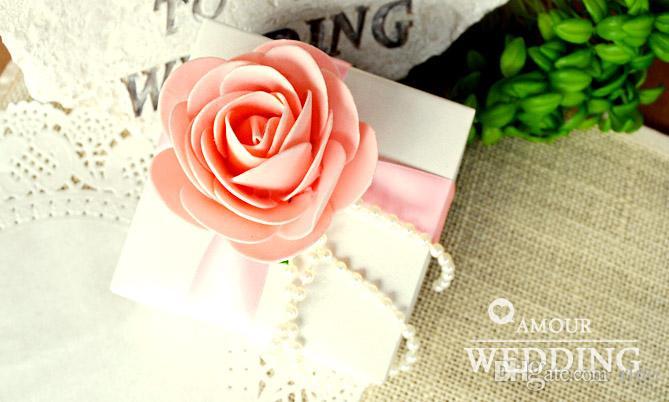Avrupa Tarzı Romatic Çiçek Düğün Favor Şeker Kutuları Düğün Parti Lehine Hediye Kutuları Çikolata Kutusu Kağıt Kutuları
